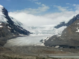 Even though the glacial Columbia Ice Fields are spectacular, they have retreated significantly in recent years.