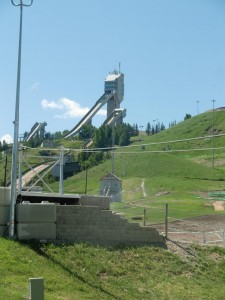 One can imagine the thrill of speeding down one of these ski jumps in Canada Olympic Park.