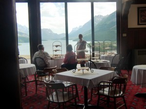 Diners at the Prince of Wales Hotel look out over Waterton Lake.