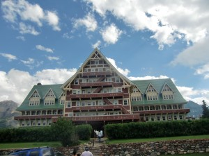We are astounded at the magnificence of the Prince of Wales Hotel in Waterton Park.