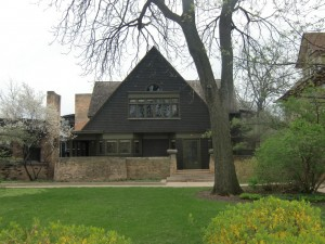 This is a part of the Frank Lloyd Wright Home and Studio in Oak Park, a suburb of Chicago.