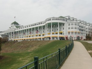 The Grand Hotel on Mackinac Island, built in l887, is a wonder to behold.
