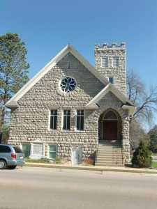 "The church in Sturgeon Bay where the well-known hymn, ""The Old Rugged Cross"" was written."
