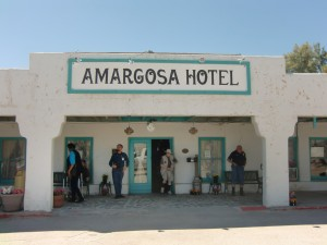 The adobe Amargosa Hotel has only 15 rooms and is on The National Register of Historic Places.