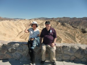 The author and photographer take time out to pose at Zabriskie Point.
