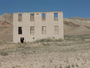 It's difficult to imagine students in this old school house  learning much in the desert heat.