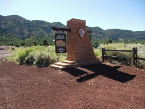 The entrance to Kolob Canyon,  just off I-15, is well marked.