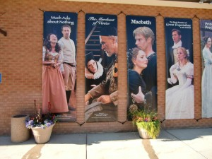 These signs demonstrate the quality of the plays produced at the Utah Shakespeare Festival.