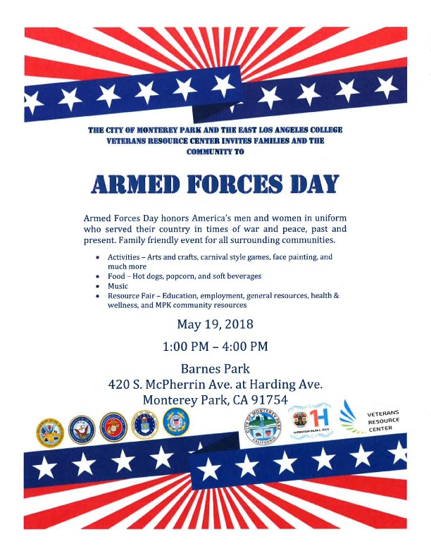 Armed Forces Day flyer