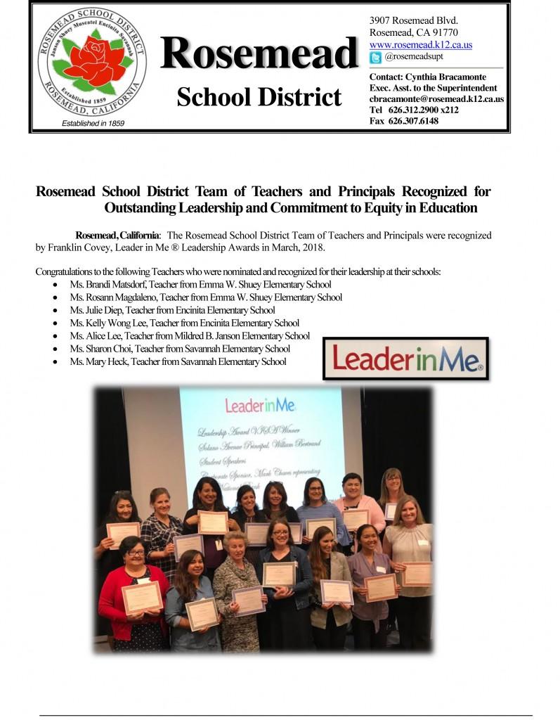 Rosemead School District -1
