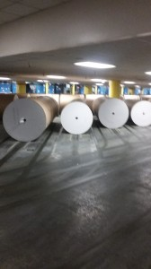 Each of these rolls of paper weighs nearly a ton.