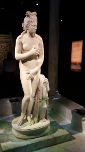 One of the highlights of the Pompeii exhibit is this statue of Venus leaving her bath.