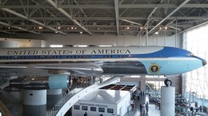 Most amazing is Air Force One, the presidential plane in its gigantic hangar.
