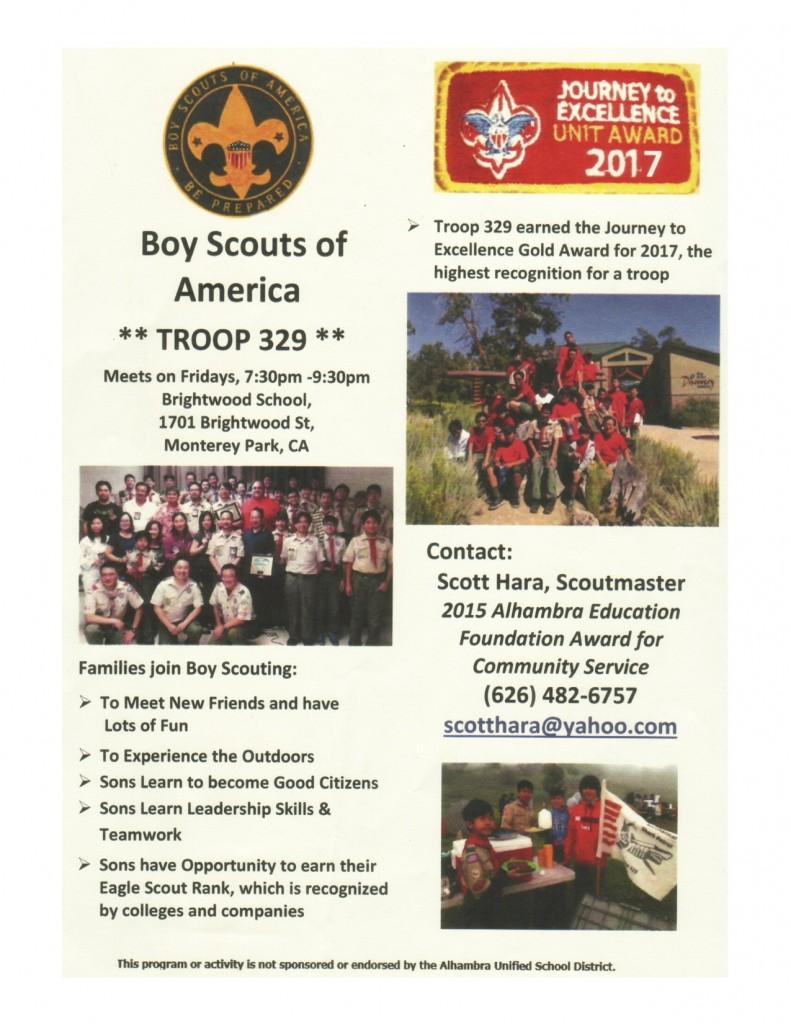 Boy Scouts flyer