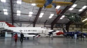 The planes in the Pima Air Museum are polished and the floors are immaculate.