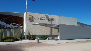 A special building houses the memorabilia of the 390th Bomb Group, active in WWII in the bombing of Europe.