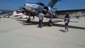 One beautiful Lockheed Electra was on the display, the type of plane flown by Amelia Earhart.
