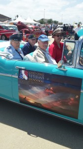 The author, Norm Stevens, was one of the Grand Marshals paraded in a vintage car.