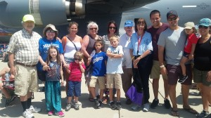 Norm's family including son and grandchildren with spouses and great grandchildren attended the air show in his honor.