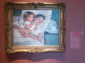 This painting of mother and child by Mary Cassatt is our favorite in the museum dedicated to American art.