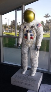 A man wearing a 300 pound space suit meets us at the entrance.