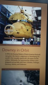 Reusable space shuttles were produced in Downey at the North American Rockwell plant.