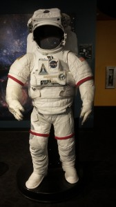 Kids like putting their faces into the opening of the space suit.