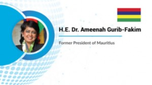 """Dr. Ameenah Gurib-Fakim, former President of Mauritius, stated, """"Let us do everyday action driven through our conscience so that peace, prosperity reigns in the world."""""""