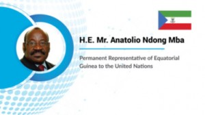 """Ambassador of Equatorial Guinea to the UN Anatolio Ndong Mba stated that """"Countries should really aggregate conscience, the conscience of uniting in one voice, uniting in one wisdom to face all those challenges."""""""