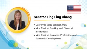 "California State Senator Ling Ling Chang stated, ""Remember to care for each other and help each other."""
