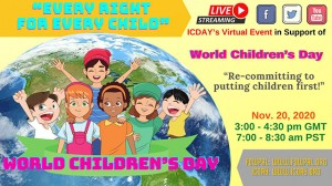 FOWPAL hosted a virtual forum in celebration of World Children's Day on Nov. 20, 2020. Educators, visionary leaders, and children enthusiastically shared their thoughts on this day to promote children's rights and happiness.