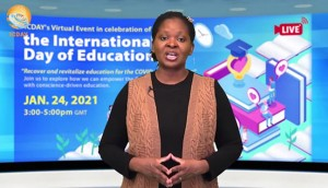 FOWPAL  hosted a virtual forum in celebration of International Day of Education on January 24, 2021.