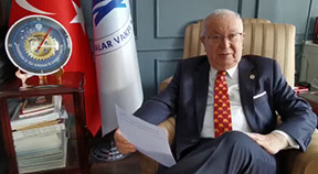 """Dr. Akkan Suver, president of the Turkey-based Marmara Group Foundation, said, """"The road of peace passes through education."""""""