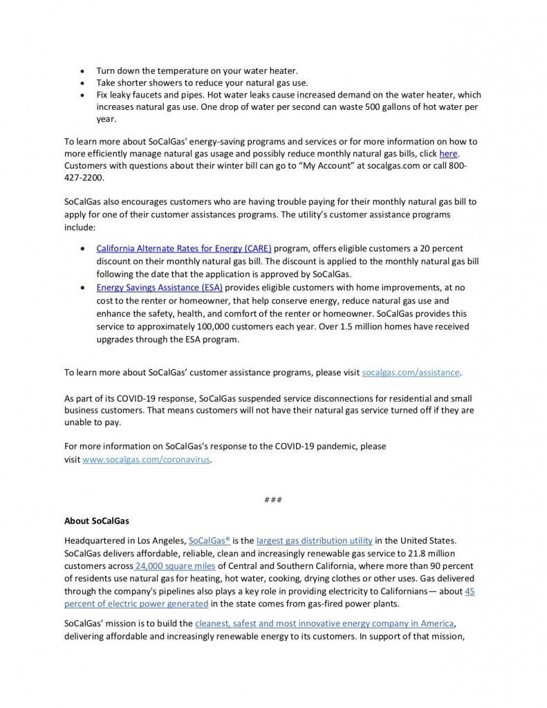 Tips to Save on Utility Bills News Release b